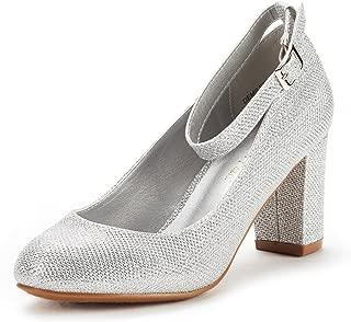 Women's Demilee High Heel Chunky Pumps Shoes