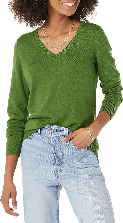 Amazon Essentials Women's Lightweight V-Neck Sweater_dnu