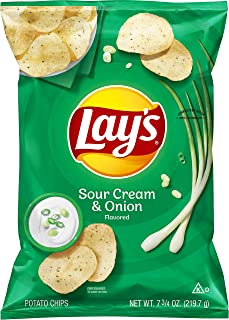 Lay's Potato Chips, Sour Cream & Onion Flavor, 7.75oz Bag (Packaging May Vary)