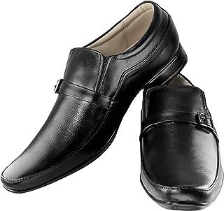 Tapps Men's Genuine Leather British Formal Shoes Slip on