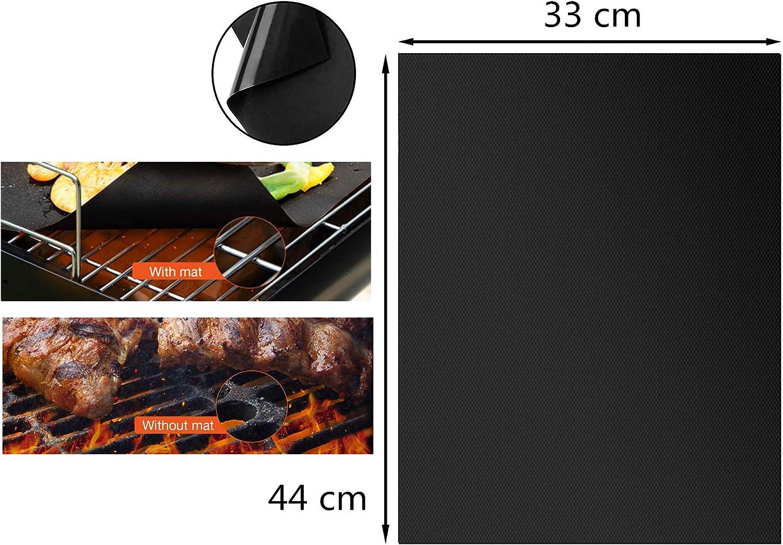 Holzsammlung Ensemble de 5 Tapis de Cuisson Haut de Gamme pour Barbecue et Four, Feuilles de BBQ et Feuilles de Cuisson réutilisable, Nettoyage Facile et Anti-adhérent (Cuivre) #2