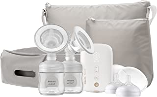 Philips AVENT Double Electric Breast Pump Advanced, with Natural Motion Technology, SCF394/62,...