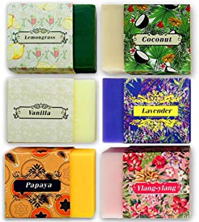 Purelis Naturals Aromatherapy Soap Bars, Artisan Crafted with Natural Essential Oils, 6-Pack Gift Set. Handmade, Antibacterial Face and Body Soap for Men and Women, Soap Bars