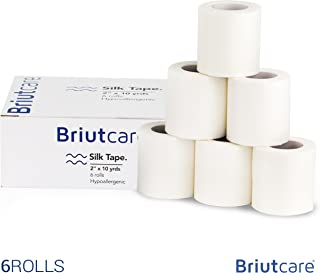 Briutcare Surgical Silk Tape (6 Pcs) | FDA Approved Medical Tape | Waterproof Adhesive First Aid Tape | Hypoallergenic Fabric & Latex-Free for Sensitive Skin | Ideal for Medical Use