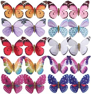 inSowni 20 Pack Assorted Colors Butterfly Alligator Hair Clips Barrettes Bridal Wedding Accessories for Women Girls Teens ...