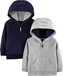 Simple Joys by Carter's Baby Boys' 2-Pack Fleece Full Zip Hoodies