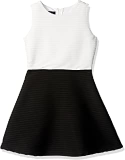 Girls' Big Picture and Flare Textured Knit Dress