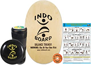 INDO BOARD Original Training Package Balance Board for Fitness Training and Fun, Comes with 30