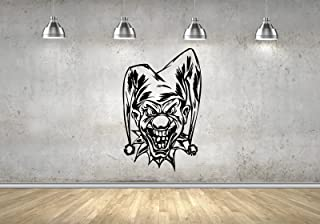 HomeDecalStore Evil Clown Scary Jester Art Decals Wall Stickers Mural Vinyl M0069
