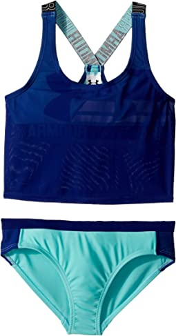 UA Racer Two-Piece Mid-Kini (Big Kids)