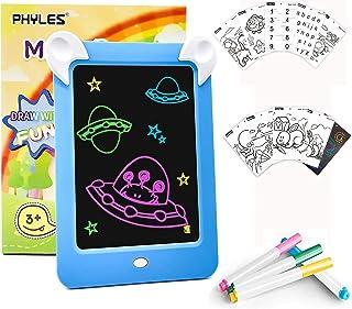 PHYLES Tableau Magique Lumineuse , Tableau Magique Lumineuse Bebe, Tableau a Dessin Lumineux Multifonction avec 8 Effets L...