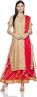 BIBA Women's Straight Salwar Suit Set
