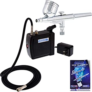 Master Airbrush Multi-Purpose Airbrushing System Kit with Portable Mini Air Compressor..