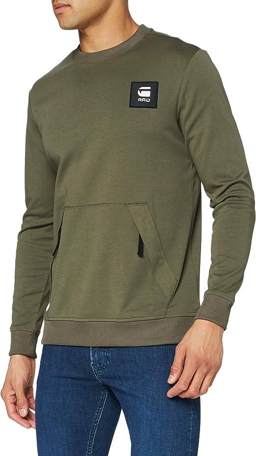 TALLA XS. G-STAR RAW Box Logo Pocket Tweater Sudadera para Hombre