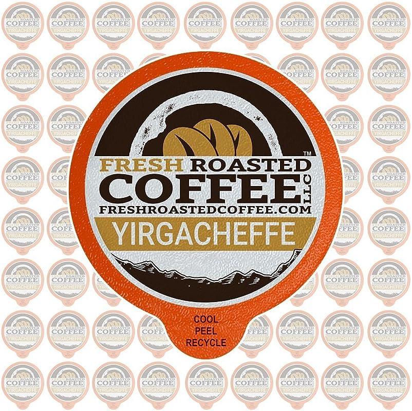 Fresh Roasted Coffee LLC Ethiopian Yirgacheffe Coffee Pods Medium Roast Single Origin Capsules Compatible With 1 0 2 0 Single Serve Brewers 72 Count