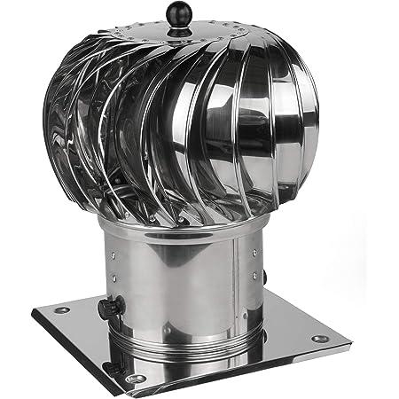 Schornsteinaufsatz Kaminaufsatz Säurebeständiger Edelstahl Lüftung Drehbarer Kugelaufsatz Lüftungsaufsatz Ofen Kamin Turbo 300mm Baumarkt