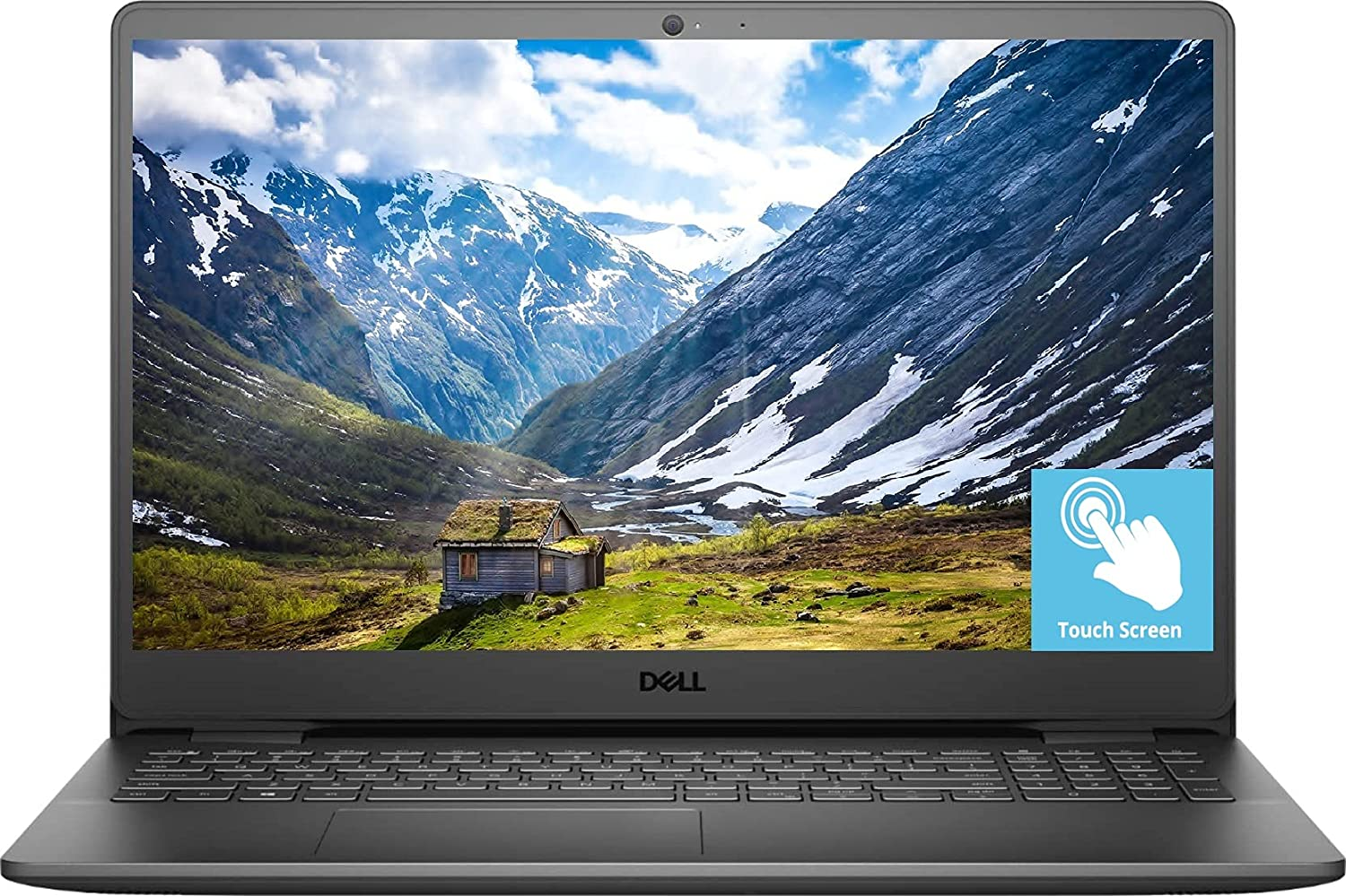 2021 Newest Dell Inspiron 3000 Laptop, 15.6 FHD Touch Display, Intel Core i5-1035G1, 16GB DDR4 RAM, 512GB PCIe SSD, Online Meeting Ready, Webcam, WiFi, HDMI, Bluetooth, Windows 10 Home, Black