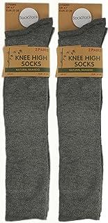 12 Pairs of Natural Bamboo Knee High Socks, Women's