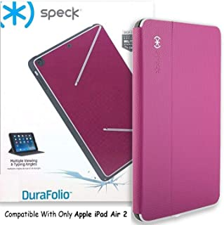 Speck Products DuraFolio Case and Viewing Stand for iPad Air 2, Fuchsia Pink/White/Slate Grey