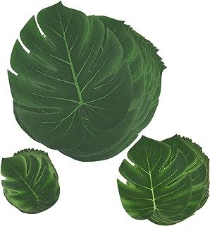 Comius 45 Stück Tropische Blätter, Dschungel Deko Palmenbl