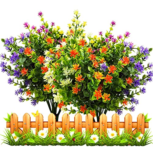 Bon LUCKY SNAIL Artificial Fake Flowers, Faux Outdoor UV Resistant Boxwood  Shrubs Plants, Lifelike Plastic