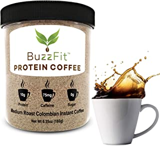 Protein Coffee by BuzzFit, Instant Colombian Coffee with 10g of Protein, No Sugar, Clean Ingredients, Keto, Lactose Free, ...