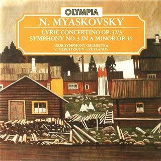 Myaskovsky: Lyric Concertino Op. 32/3 & Symphony No. 3