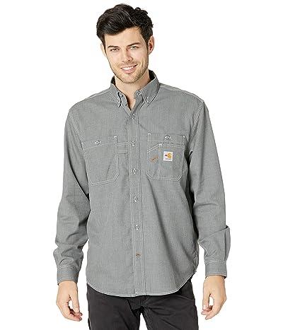 Carhartt Flame-Resistant Force Original Fit Lightweight Long Sleeve Button Front Shirt (Gray) Men