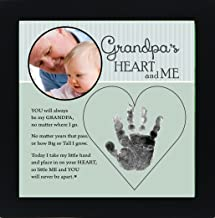 Baby Child Keepsake Handprint Frame with Poetry - Mommy, Daddy, Grandma or Grandpa (Grandpa)