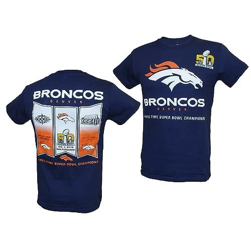 677d46b89 Denver Broncos 2015 Super Bowl 50 Champs Banner Navy T-shirt