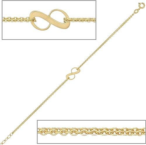 Armband Damen 9 Karat    GelbGold L e ca. 19 cm Federringverschluss