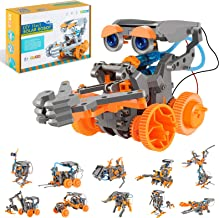 اسباب بازی پروژه بنیادی RCSPACEX برای کودکان ، کیت آزمایش علوم ربات های خورشیدی 11 در 1 برای پسران 8-12 سال ، 231 قطعه مجموعه ساخت آموزش DIY برای دختران و پسران