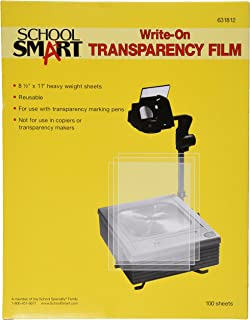 School Smart Heavy Weight Write-On Transparency Film - 8 1/2 x 11 - Pack of 100