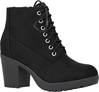 Best chunky lace up boots heel Reviews