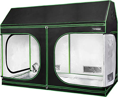 """2021 VIVOSUN 96""""x48""""x72"""" lowest Indoor Grow Tent, wholesale Roof Cube Tent with Observation Window and Floor Tray for Plant Growing outlet online sale"""