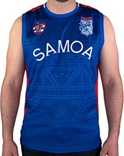 Rhino Rugby   Performance Team Singlet   Sleeveless Fitness Tank - Samoa