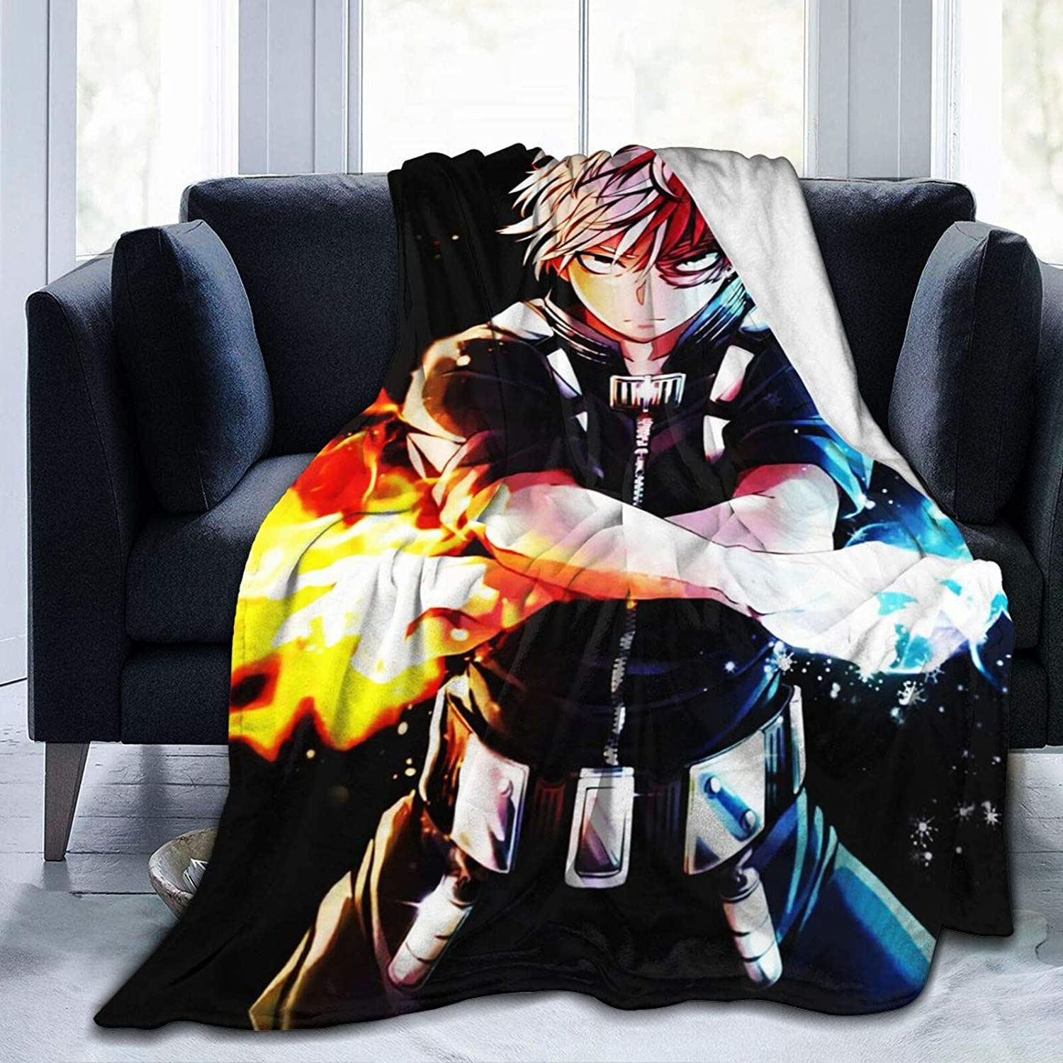 Blankets Throws My Hero Academia Fuzzy Soft Cartoon Opening large release sale Anime Plush Popular popular