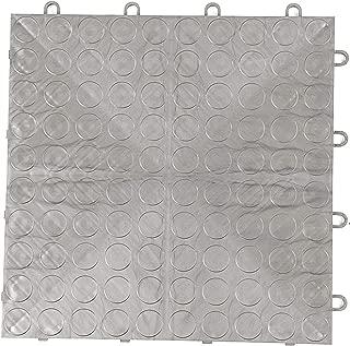 IncStores Coin Grid-Loc Garage Flooring Snap Together Mat Drainage Tiles (12 Tile Pack - Gunmetal)
