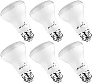 HyperSelect LED BR20 Bulb, 9W (40 Watt), Non DImmable Flood Light, E26, 4000K Daylight, UL, Energy Star, 6 Pack