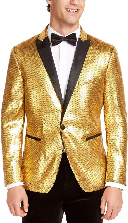 INC Mens Gold Slim Fit Blazer 3X