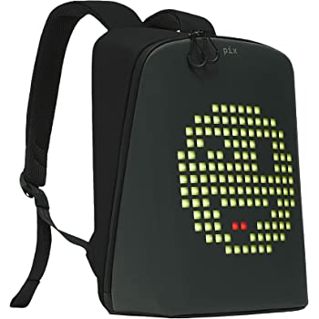 PIX Women's Backpack with Programmable Screen, Black, Large