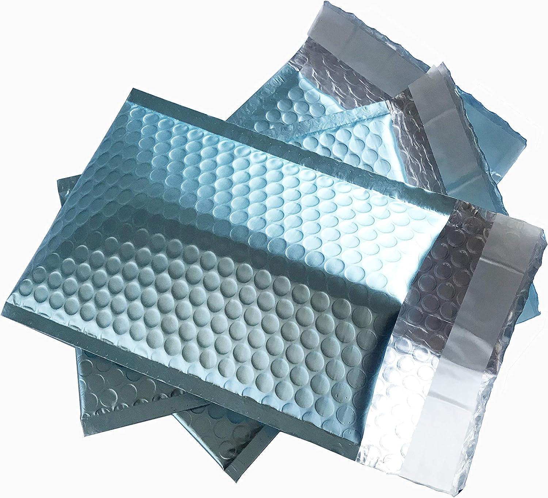 Max 53% OFF ProLine Matte Metallic Ice Blue Bubble Mailers Louisville-Jefferson County Mall Self 6x10 Inch Se