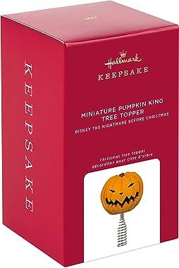 "Hallmark Keepsake Disney Tim Burton's The Nightmare Before Christmas Pumpkin King Miniature Tree Topper, 4.14"""