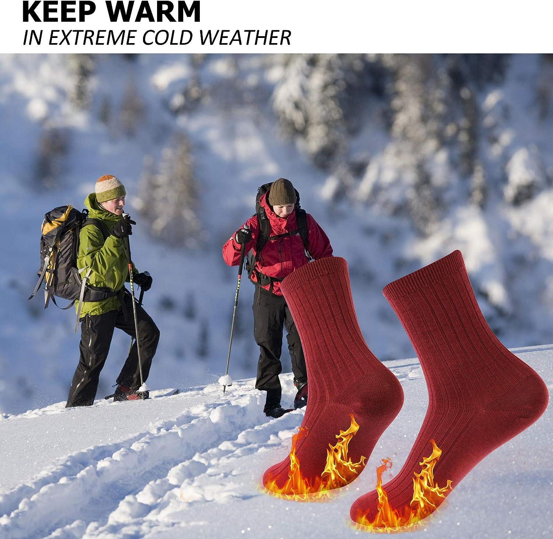 Zonent Hiking Warm Socks Cycling Socks for Women Thermal Merino Wool Socks