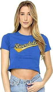 Archie Comics Riverdale LogoJuniors Teen Girls Crop Top T Shirt & Stickers