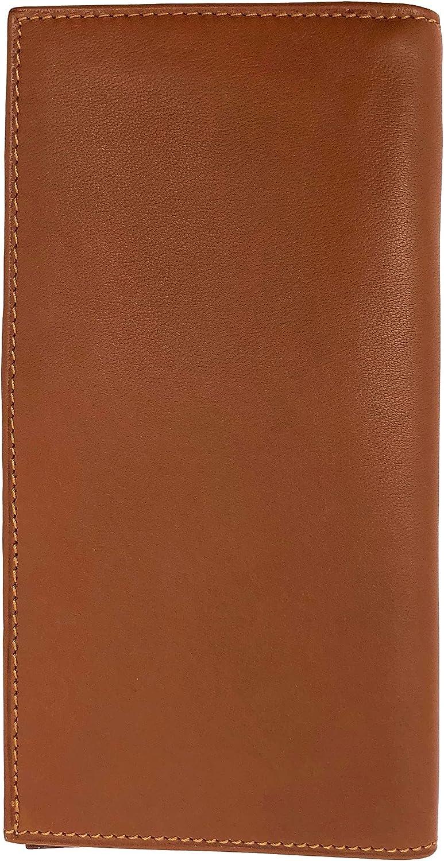 Floto Firenze Italian Napa Lambskin Leather Breast Pocket Long Wallet (Tan Brown)