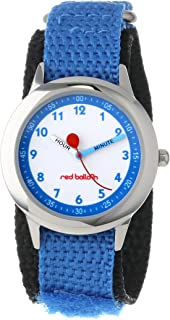 Red Balloon Kids' W000198 Blue Nylon Strap Stainless Steel Time Teacher Watch
