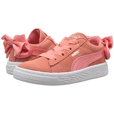 Puma Kids Suede Bow AC INF (Toddler) (Shell Pink) Girls Shoes