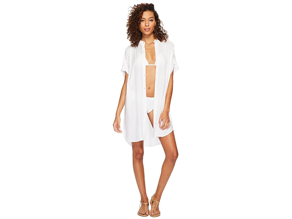 Echo Design Solid Shirtdress Cover-Up (White) Women