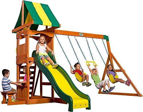 Backyard Wood Playset Swing Set - Best Swing Sets Under 1000$